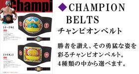 チャンピオンベルト 勝者を讃え、その勇猛な姿を彩るチャンピオンベルト種類の中から選べます。